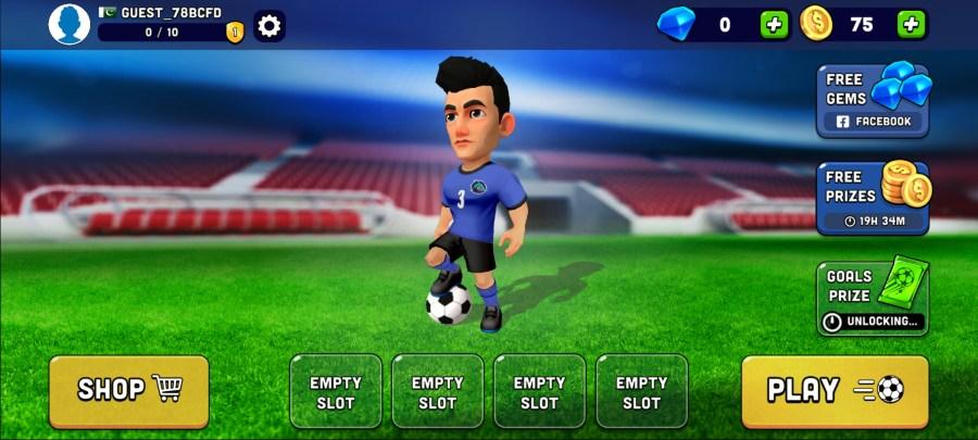 Screenshot of Mini Football Mod Apk