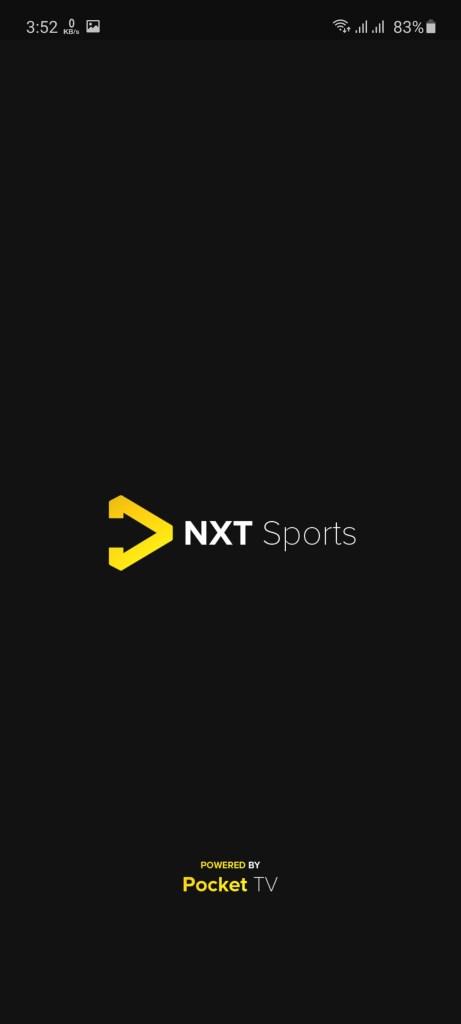 Screenshot of NXT Sports
