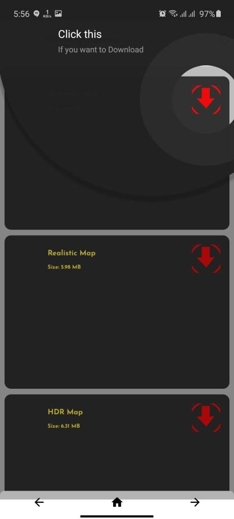 Screenshot of WG Map Injector App