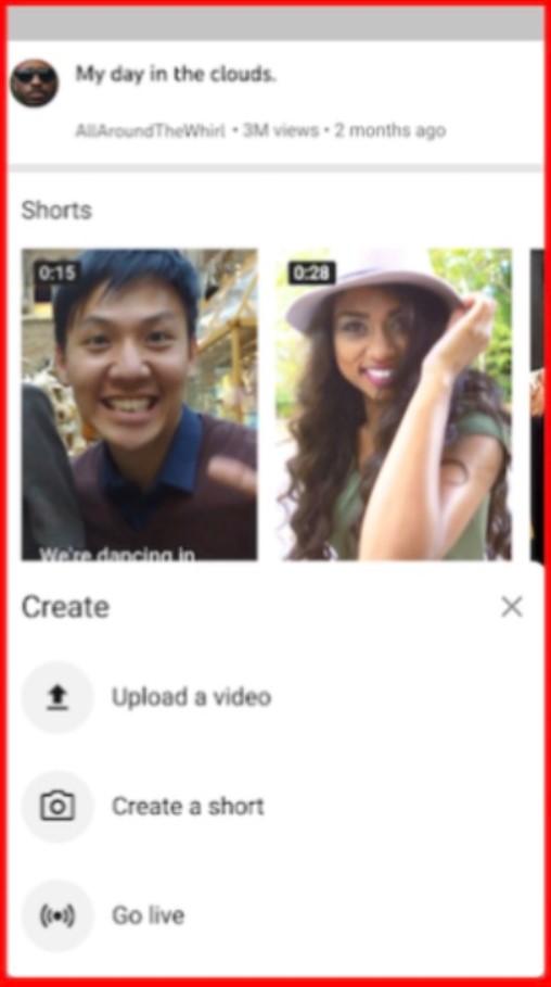 Screenshot of YouTube Shorts Beta