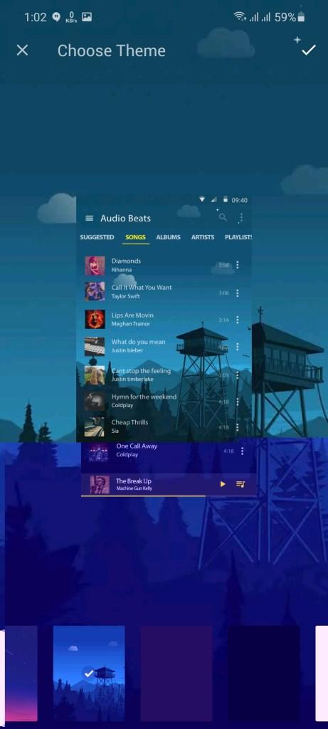Screenshot of Muzio Player Pro App
