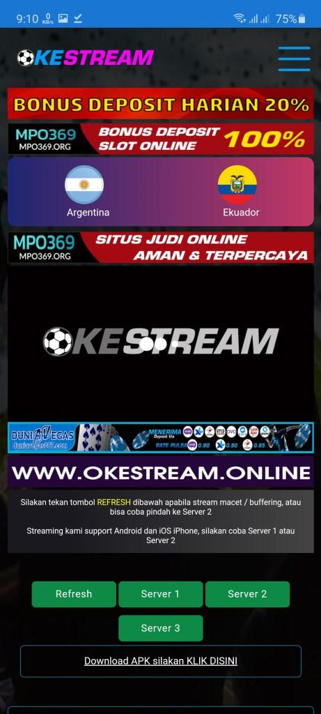 Screenshot of Okestream Download
