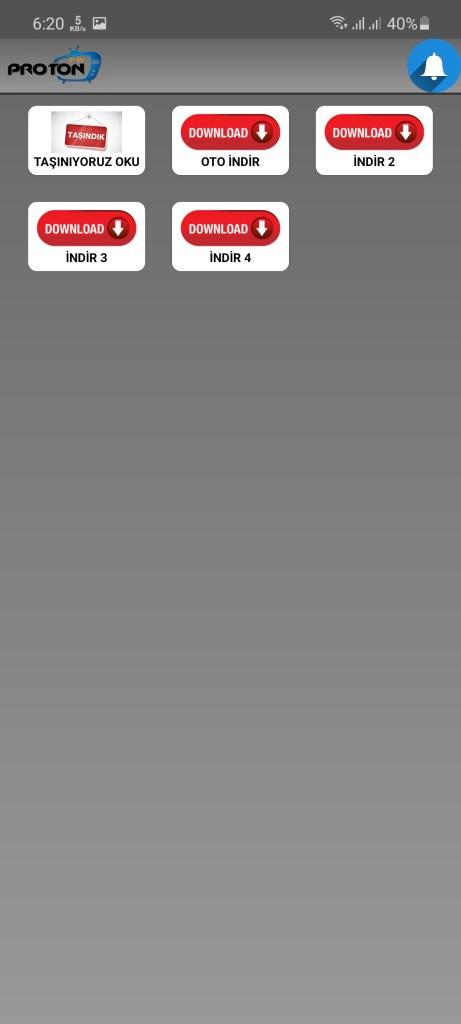 Screenshot of Proton TV App