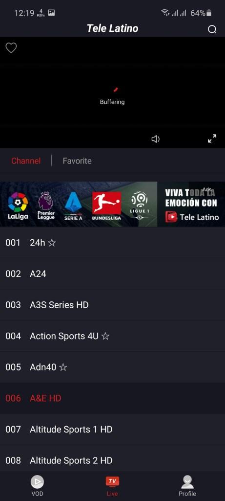 Screenshot of Tele Latino Apk