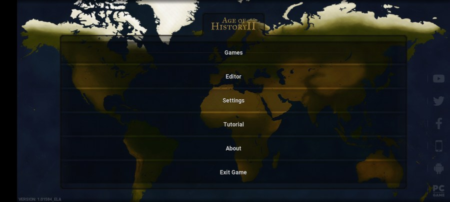 Screenshot of Age of History 2 Game