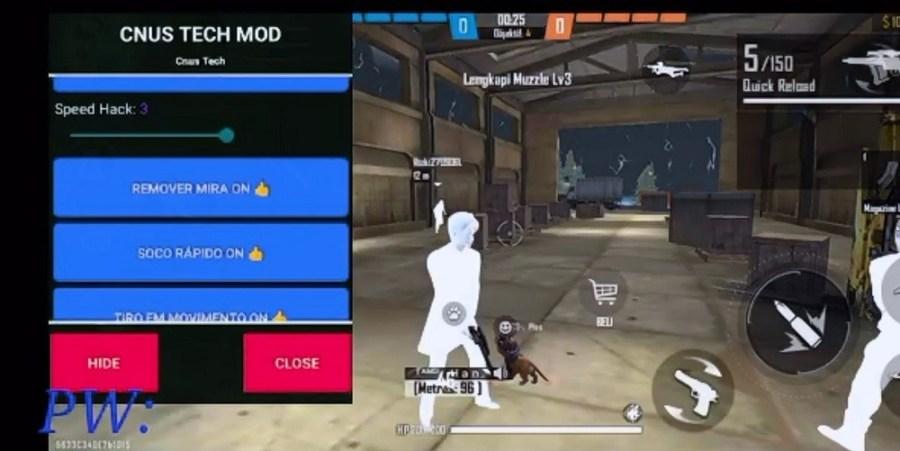 Screenshot of CNUS Tech Free Fire