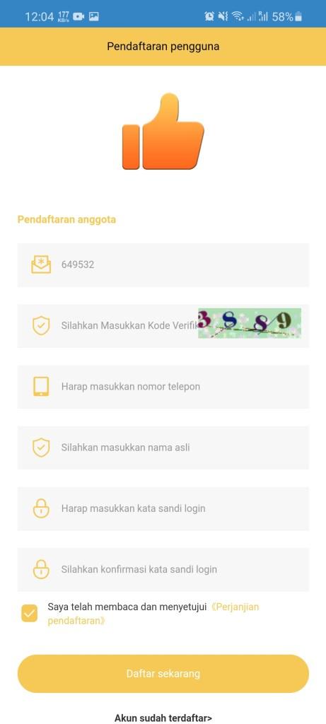 Screenshot of Golden Thumb App