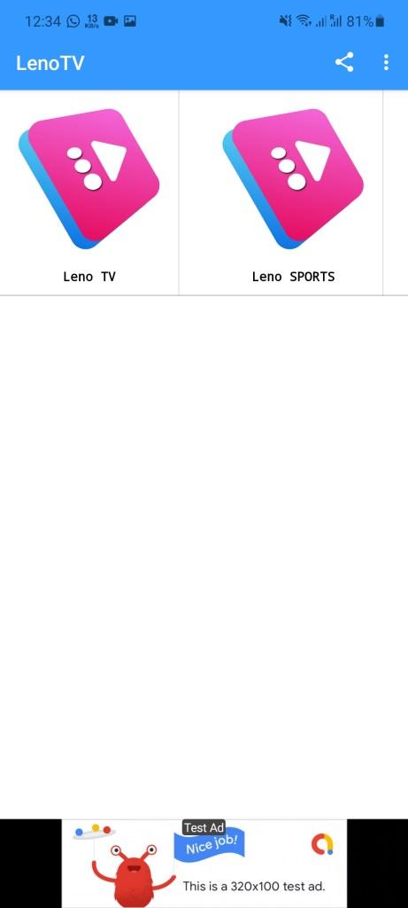 Screenshot of LENO TV Apk