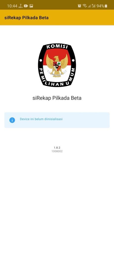 Screenshot of Sirekap App