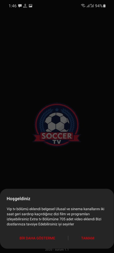 Screenshot of Soccer TV App