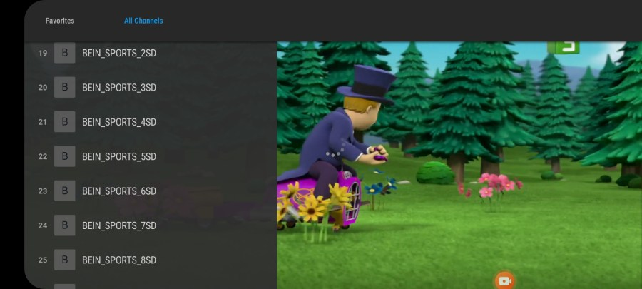 Screenshots of StreamNA App