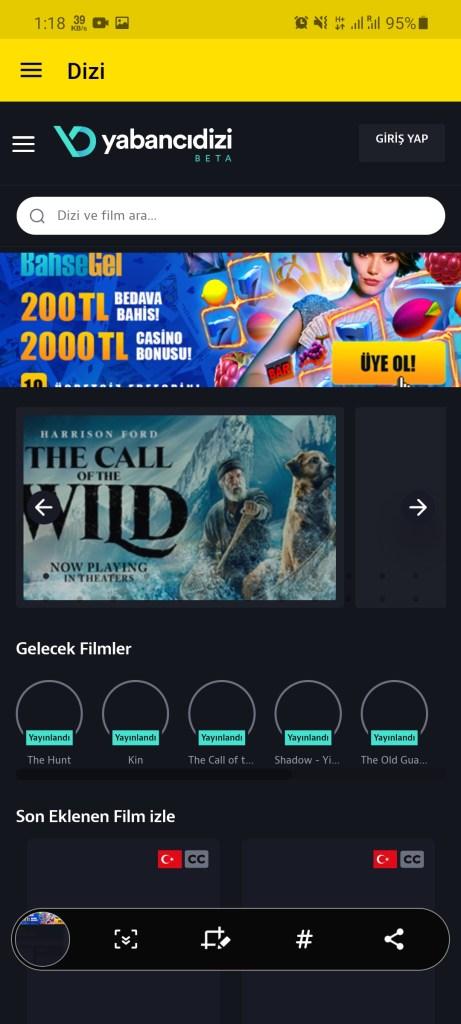 Screenshot of Exxen TV App