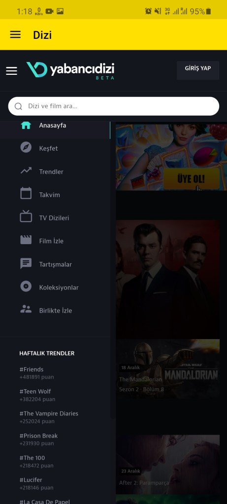 Screenshot of Exxen TV For Android