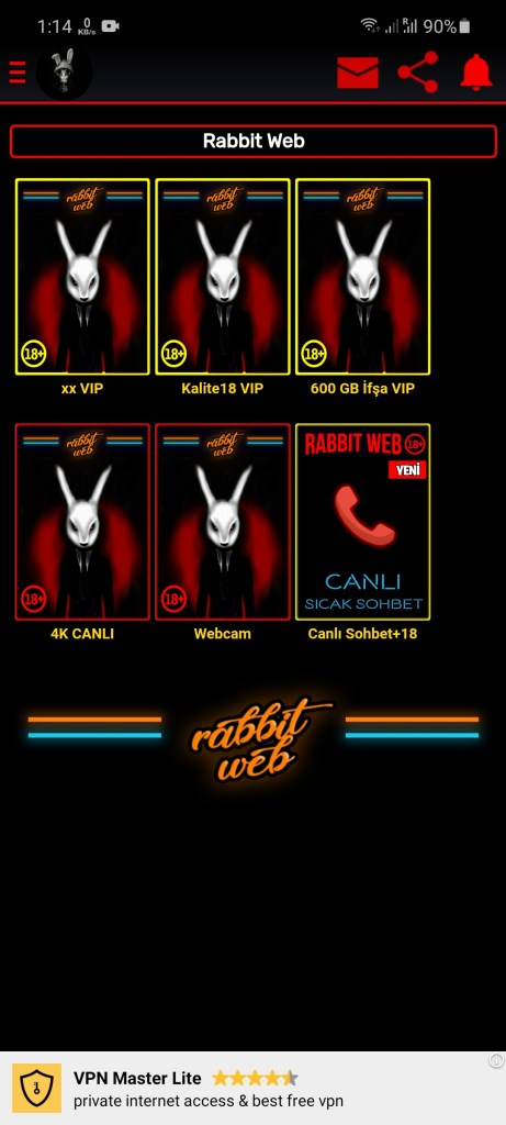 Screenshot of Rabbit Web For Android