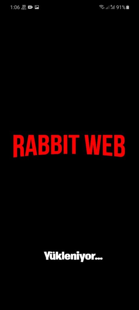 Screenshot of Rabbit Web