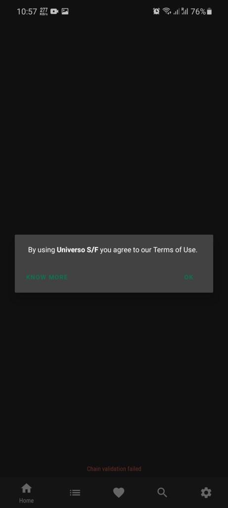 Screenshot of Universo SF Apk