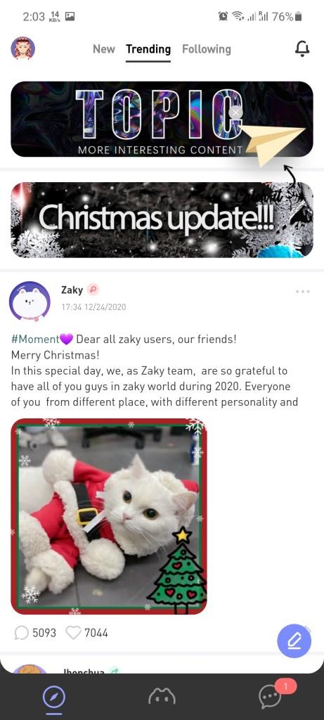 Screenshot of Zaky App