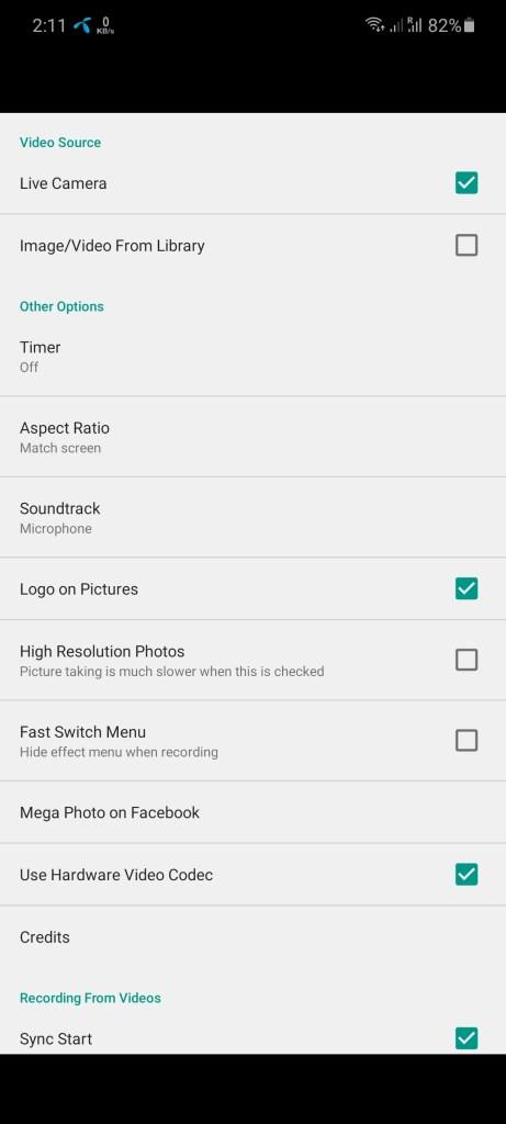 Screenshot of Flash Warning Video Maker