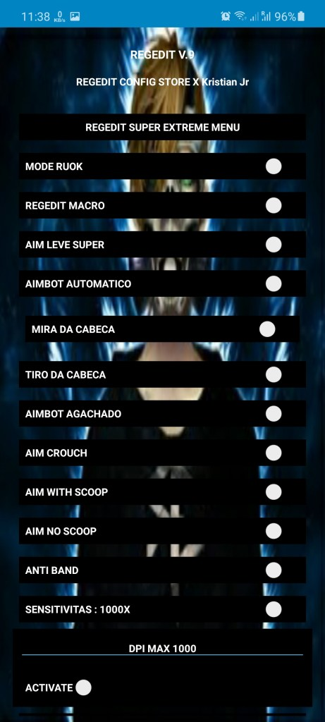 Screenshot of REGEDIT Pro