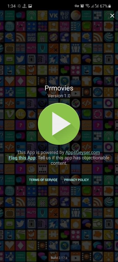 Screenshot of PRMovies Apk