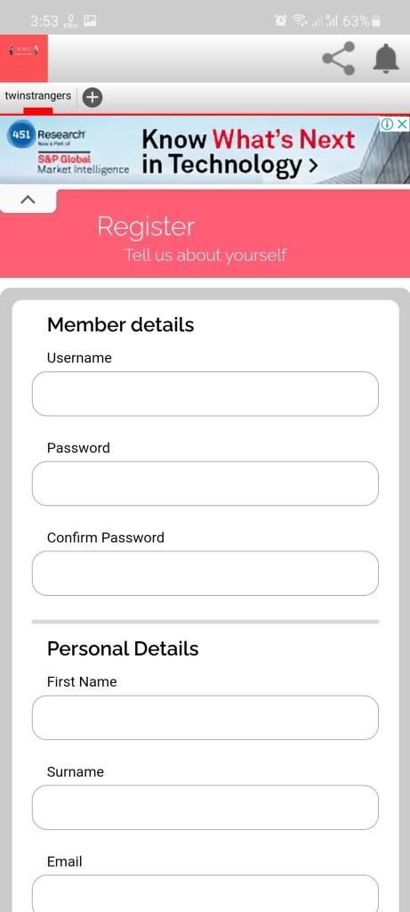 Screenshot of TwinStrangers Download
