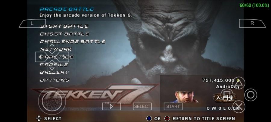 Screenshot of Tekken 6 ISO