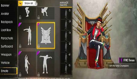 Best Free Fire Emotes 2021 Throne