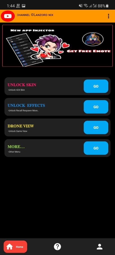 Screenshot of NIX Injector ML