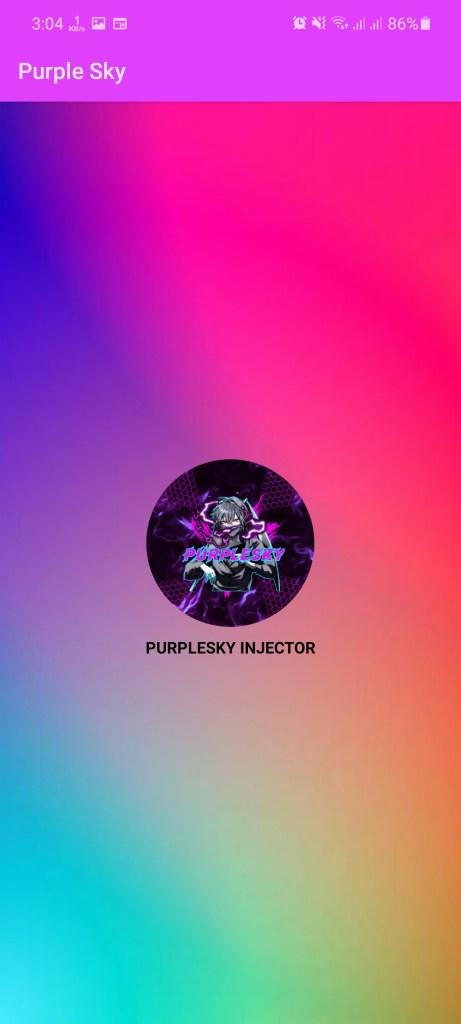 Screenshot of Purple Sky Injector Apk