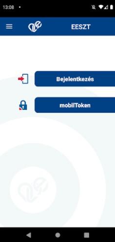 Screenshot of EESZT App