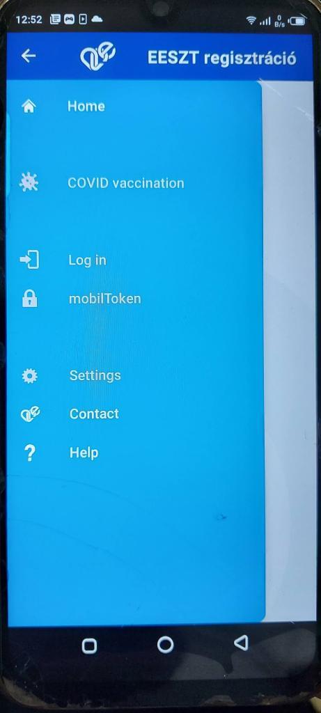 Screenshot of EESZT Download