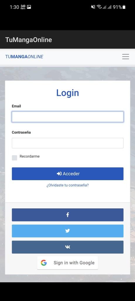 Screenshot of Tu Manga Online App Download