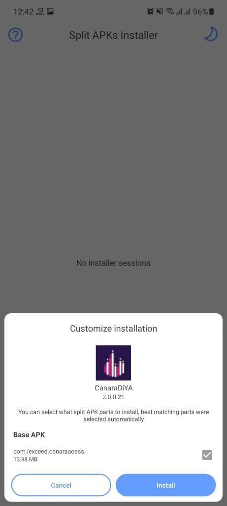 Screenshot of Canara Diya App