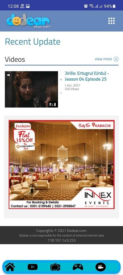 Screenshot of Dodear Download App