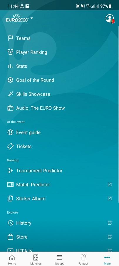 Screenshot of EURO 2020 App Download