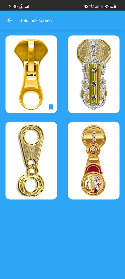 Screenshot of Gold Screen Lock App Download