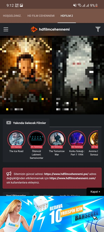 Screenshot of HDFilmCehennemi Android