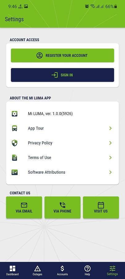 Screenshot of MI LUMA Android