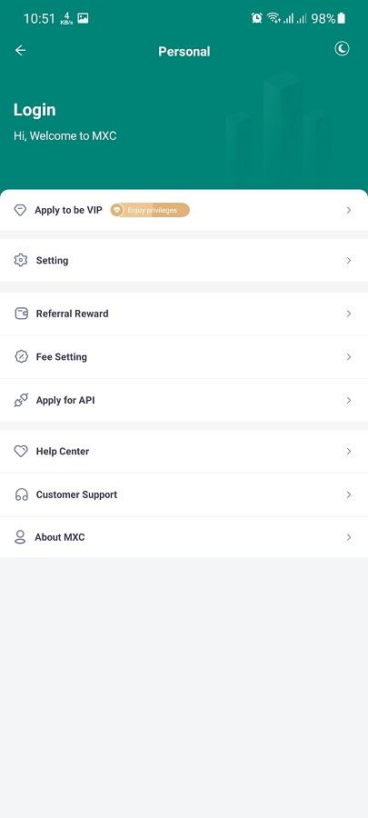 Screenshot of MXC Pro App Download