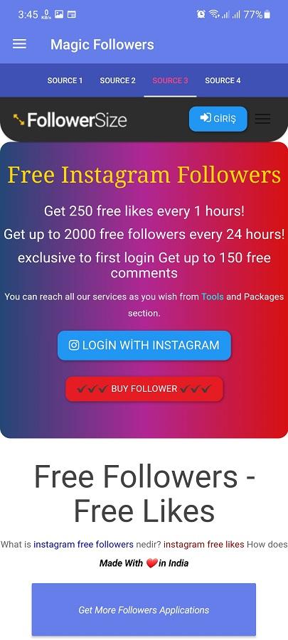 Screenshot of Magic Followers Android