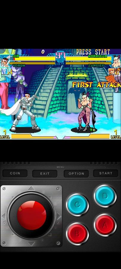 Screenshot of Marvel Vs Capcom Game