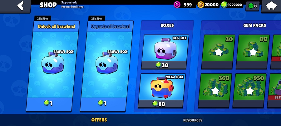 Screenshot of Nulls Brawl Buzz