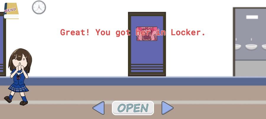 Screenshot of Open Closet School Girl Game Clue