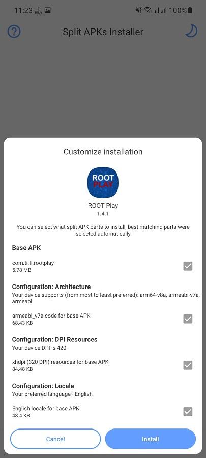 Screenshot of Root Play Apk