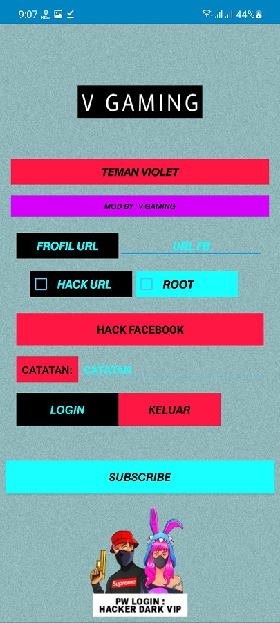 Screenshot of The Hacker FF Apk