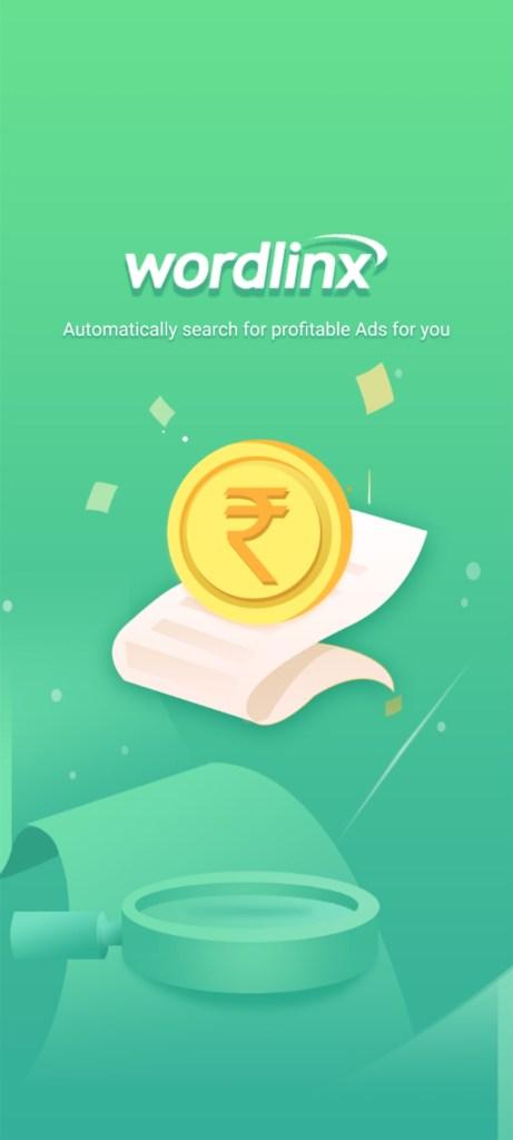 Screenshot of WordLinx Earning App