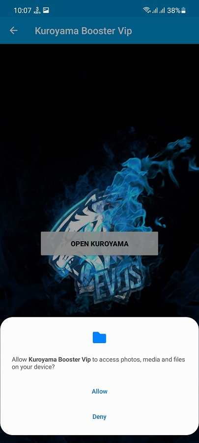 Screenshot of Kuroyama Booster VIP Android