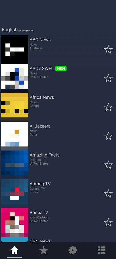 Screenshot of Pick TV App