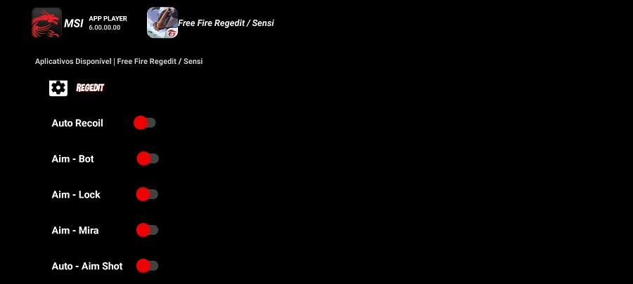 Screenshot of REGEDIT MSI App Player Apk