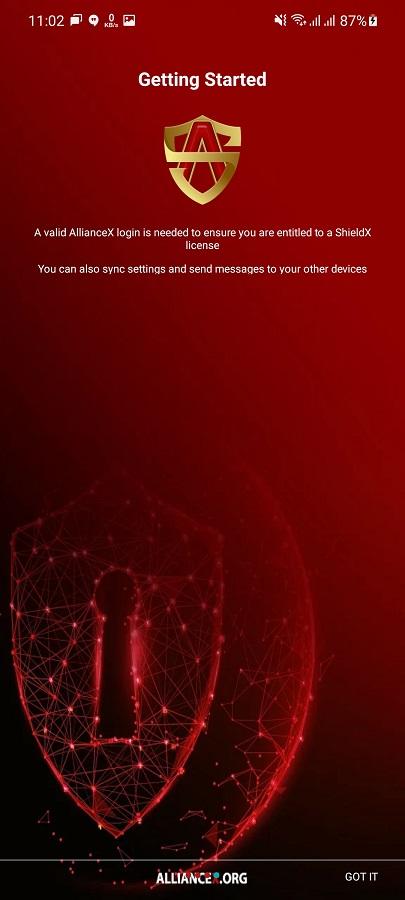 Screenshot of Alliance Shield X Download